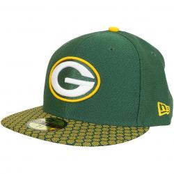 New Era 59Fifty Fitted Cap OnField NFL17 GreenBay Packers grün/gelb