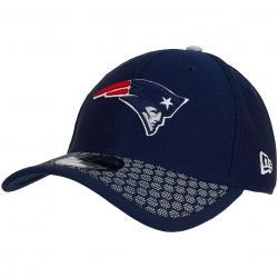 New Era 39Thirty Flexfit Cap OnField NFL17 N.England Patriots dunkelblau/weiß