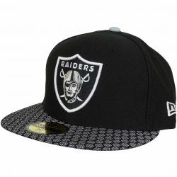 New Era 59Fifty Fitted Cap OnField NFL17 Oakland Raiders schwarz/weiß