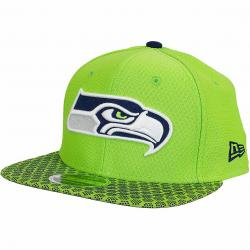 New Era 9Fifty Snapback Cap OnField NFL17 Seattle Seahawks grün/dunkelblau