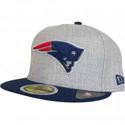 New Era 59Fifty Fitted Cap Reflective Heather New England Patriots heathergrey
