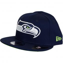 New Era 9Fifty Snapback Cap Team Classic Seattle Seahawks dunkelblau