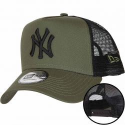 New Era Trucker Cap League Essential Yankees oliv/schwarz