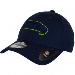 New Era 39Thirty Fitted Cap NFL Mesh Outline Seattle Seahawks dunkelblau