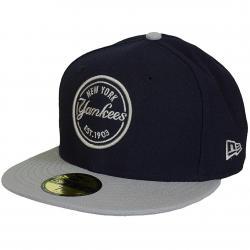 New Era 59Fifty Fitted Cap 5950 MLB Emblem RP NY Yankees dunkelblau/grau