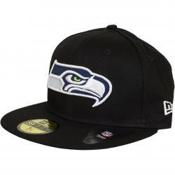 New Era 59Fifty Fitted Cap Black Base Seattle Seahawks schwarz
