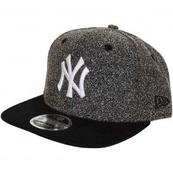 New Era 9Fifty Snapback Cap Flecked Crown NY Yankees graphit grau