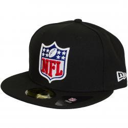 New Era 59Fifty Fitted Cap Glow In The Dark NFL Shield schwarz