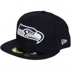 New Era 59Fifty Fitted Cap Glow In The Dark Seattle Seahawks dunkelblau