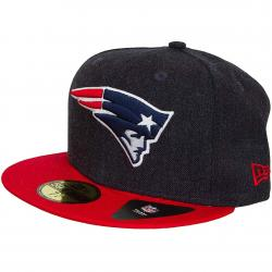 New Era 59Fifty Fitted Cap Heather Team New England Patriots heathernavy dunkelblau