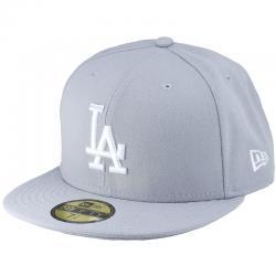 New Era 59Fifty Cap MLB Basic LA Dodgers grau/weiß