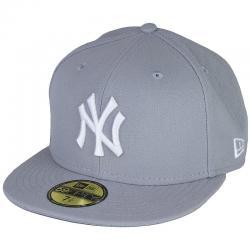 New Era 59Fifty Cap MLB Basic N.Y. grau/weiß