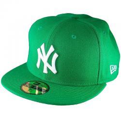 New Era 59Fifty Cap MLB Basic N.Y. grün/weiß