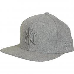 New Era 9Fifty Snapback Cap MLB Melton Tonal NY Yankees grau