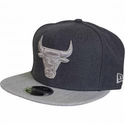 New Era 9Fifty Snapback Cap NBA Heather Chicago Bulls graphite grau