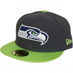New Era 59Fifty Fitted Cap NFL Ballistic Visor Seattle Seahawks grau