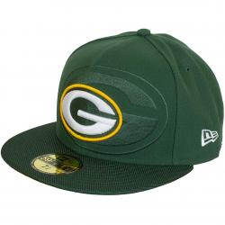 New Era 59Fifty Fitted Cap NFL Sideline Green Bay Packers grün