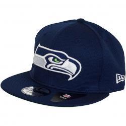 New Era 9Fifty Snapback Cap NFL Training Mesh Seattle Seahawks dunkelblau