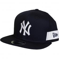 New Era 9Fifty Snapback Cap Side Block NY Yankees original dunkelblau/weiß