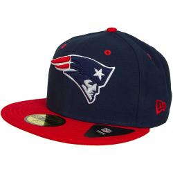 New Era 59Fifty Fitted Cap Team Classic New England Patriots original dunkelblau/rot