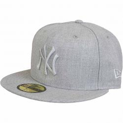 New Era 59Fifty Fitted Cap Tonal Heather NY Yankees grau meliert