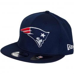 New Era 9Fifty Snapback Cap NFL Training Mesh New England Patriots original dunkelblau