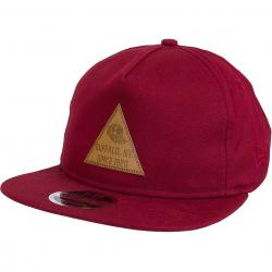 New Era 9Fifty Snapback Cap Tri Patch weinrot