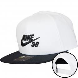 Nike Snapback Cap SB Icon weiß/schwarz