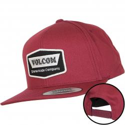 Volcom Snapback Cap Cresticle burgundy