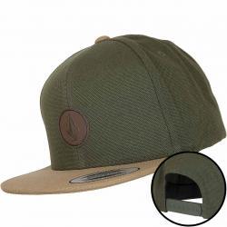 Volcom Snapback Cap Quarter Fabric army