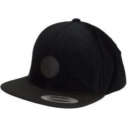 Volcom Snapback Cap Quarter Fabric ink schwarz