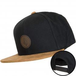 Volcom Snapback Cap Quarter Fabric schwarz/braun