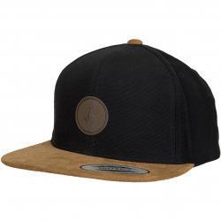 Volcom Snapback Cap Quarter Fabric vintage schwarz