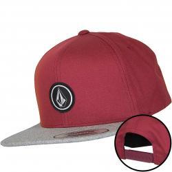 Volcom Snapback Cap Quarter Twill burgundy