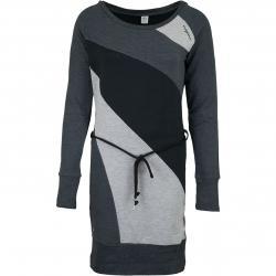 Mazine Kleid Ervie schwarz/grau