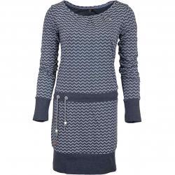 Ragwear Kleid Alexa Zig Zag E dunkelblau