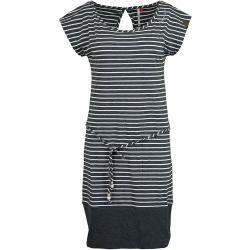 Ragwear Kleid Soho Stripes dunkelgrau/weiß