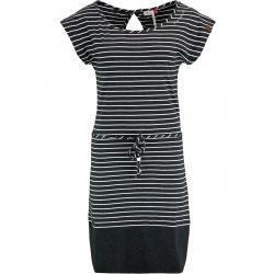 Ragwear Kleid Soho Stripes schwarz