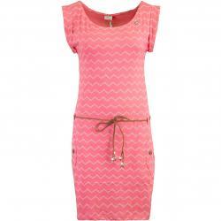 Ragwear Tag Chevron Kleid pink