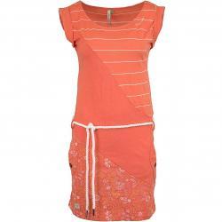 Ragwear Kleid Tag Stripes Organic coral