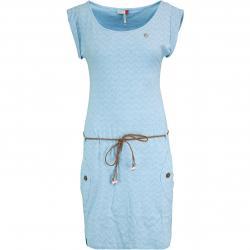 Ragwear Kleid Tag Zig Zag hellblau