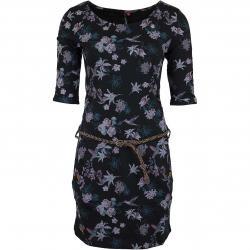 Ragwear Kleid Tanya Flowers E schwarz