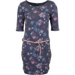 Ragwear Kleid Tanya Flowers E dunkelblau