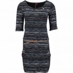 Ragwear Kleid Tanya Print schwarz