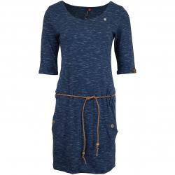 Ragwear Kleid Tanya Slub indigo blau