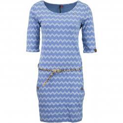 Ragwear Kleid Tanya Zig Zag blue