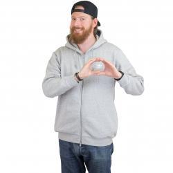 Adidas Originals Zip-Hoody Trefoil Fleece grau