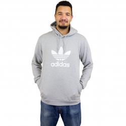 Adidas Originals Hoody Trefoil hellgrau
