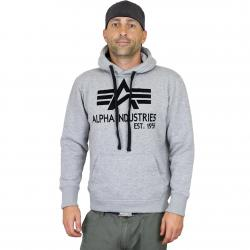 Alpha Industries Big A Classic Hoody grau