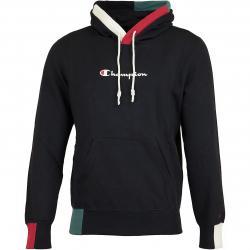 Champion Hoody Logo schwarz